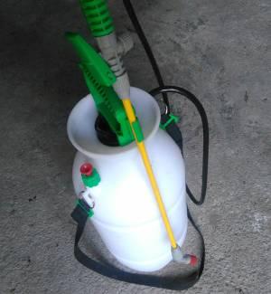 Pulverizador manual de 7 litros con bomba